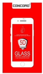 Siyah İphone 7 Plus 5d Ekran Koruyucu Yeni Nesil Koruma
