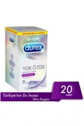 Durex Prz Eko Yok Otesı Ultra Kaygan 20 Lı