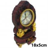Antika Görünümlü Şık Tasarım Saat Çekmeceli Dekoratif Nostaljik M
