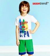 U.s Polo 9195 9196 Pijama Takımı Beyaz