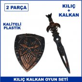 Kılıç Kalkan Oyuncak Seti 2 Parça Kaliteli Plastik Savaş Oyuncakl