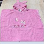özdilek Bebe Havlu Panço Rabbit Nakışlı Pembe