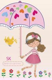 Boy Cetveli Şeker Kız Şemsiye Boy Ölçer Gelişim Çizelgesi Anaokul