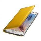 Samsung Galaxy S6 Flip Wallet Kartlıklı Cüzdan Kılıf Orjinal