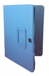 Samsung Tab 4 T530 10.1 İnç Standlı Tablet Kılıf Mavi