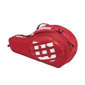Wilson 3 Paketli Maç Kırmızı Tenis Çocuk Çantası Cnttnswıl061