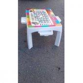 Ingilizce Eğitici Elit Çocuk Masası Beyaz Plastik