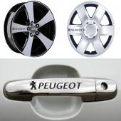 Peugeot Kapı Kolu Jant Sticker
