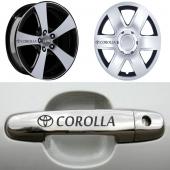Toyota Corolla Kapı Kolu Jant Sticker