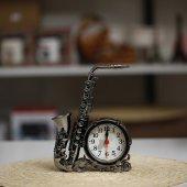 Dekoratif Saksafon Şeklinde Alarmlı Masa Saati