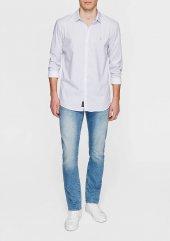 Mavi 020794 620 Erkek Baskılı Gömlek Beyaz