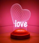 Kişiye Özel 3 Boyutlu Love Led Lamba
