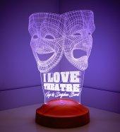 3d Led Lamba Tiyatro Maskeleri Led Lamba