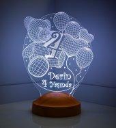 3d 3 Boyutlu Led Lamba Bebek Doğum Günleri Kişiye Özel Hediye