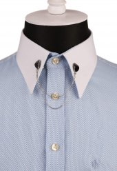 Bordo Taşlı Zincirli Gümüş Renk Gömlek Yaka İğnesi Gı139