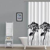 Zethome Tropik Banyo Duş Perdesi 3391 Çift Kanat 2x120x200