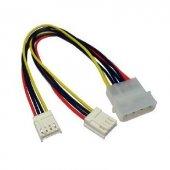 4 Pin Molex To 2 X 4 Pin Disket Sürücü Splitter Kablo 12cm