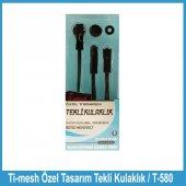Ti Mesh Özel Tasarım Tekli Kulaklık T 580 Kırmızı