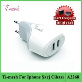 Ti Mesh For Iphone Akım Kesicili Şarj Cihazı A2268 + Kart Okuyucu