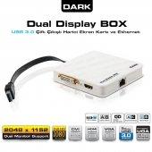 Dark Çift Çıkışlı Full Hd + Usb 3.0 2.0 Harici Ekran Kartı Ve Ethernet Dk Ac Uga30