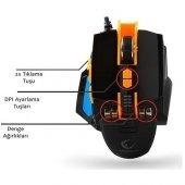 Everest Rampage Smx R4 Usb Siyah 4800 Dpi Makrolu Oyuncu Mouse Ev