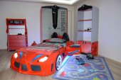 Arabalı Yataklı Genç Odası Takımı , Audi V7 Süper Sports , Lüx