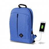 My Valice Smart Bag Galaxy Usb Şarj Girişli Notebook Sırt Çantası Mavi