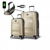 My Valice Smart Bag Exclusive Usb Şarj Girişli 2li Valiz Seti (Kabin Ve Büyük) Gold