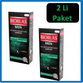 2 Li Paket Bioblas Şampuan Men 400ml Yağlı Saç Arındırıcı Bakım