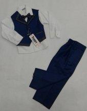 Erkek Çocuk Smokinli Takım Elbise 4 Lü Mavi