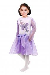 Kelebek Baskılı Lila Kostüm