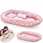 Babyjem Anne Baba Yanı Bebek Yatağı Yatağı Pembe