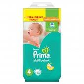 Prima Bebek Bezi Aktif Bebek Ultra Fırsat Paket 4 Beden 136 Ade