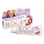 Rocs Kids Diş Macunu 4 7 Yaş Ahududu Çilek Tadında