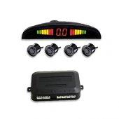 Park Sensörü Ekranlı Sesli 18,5mm 4lü Siyah