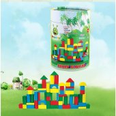 60 Parça Woodoy Küçük Kovalı Bloklar