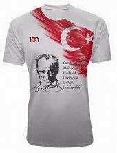 10n Muhteşem Atatürk İnkılapları Baskılı Beyaz T Shirt