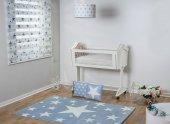 Mavi Yıldızlı Çocuk Odası Halısı