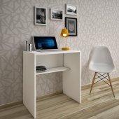 Kenzlife Çalışma Ve Bilgisayar Masası Merkür Beyaz