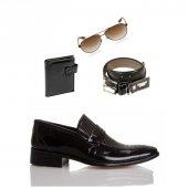 Eray Kundura Klasik Siyah Erkek Ayakkabısı Set