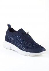 Cirim Lacivert Boncuklu Beyaz Taban Unisex Spor Ayakkabı