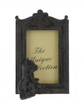 Resim Çerçevesi Kedi Biblolu Antik Siyah