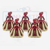 5 Renk Kaftan Kına Hediyelik Hazır Paketli 100 Lü Kına Malzemeler