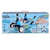 Cool Wheels Hem 3 Teker Hem 2 Teker Dönüşebilen Scooter Mavi