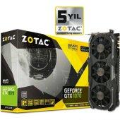 Zotac Nvidia Geforce Gtx 1070 Amp Ext 8gb 256bit Gddr5 Pcı E 3.0 Ekran Kartı Zt P10700b 10p