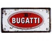 Vintage Metal Plaka Bugatti 15x30