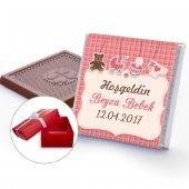 Isim Yazılı Yeni Doğan Kız Bebek Çikolatası