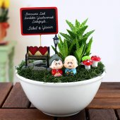 Kişiye Özel Sonsuza Dek Aşk Temalı Mini Bahçe