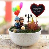Romantik Not Yazılı Dekoratif Minyatür Bahçe