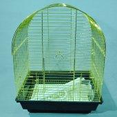Qh Pet Cage Pirinç Kaplama Kuş Kafesi 34.5 X 28 X 45.5 Cm